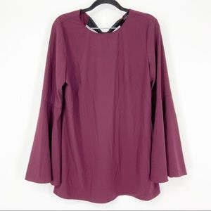 Halogen Bow Back Bell Sleeve Tunic